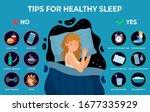 healthy sleep rules. healthy...   Shutterstock .eps vector #1677335929