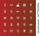 editable 25 medal icons for web ... | Shutterstock .eps vector #1677352546