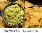 Green Homemade Guacamole With...