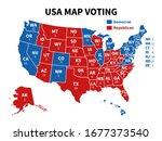 usa map voting. presidential... | Shutterstock .eps vector #1677373540