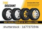 tires discount. realistic black ...   Shutterstock .eps vector #1677373546