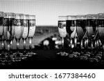 Row Of Glasses Of Wine. A...
