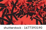 abstract graffiti shapes with a ... | Shutterstock .eps vector #1677393190