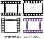 film  movie  photo  filmstrip | Shutterstock .eps vector #167740043