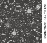 seamless space pattern. can be... | Shutterstock . vector #167741120