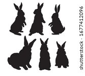 rabbit animal silhouette  icon  ... | Shutterstock .eps vector #1677412096