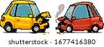 car accident pixel art...   Shutterstock .eps vector #1677416380