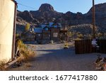 Small photo of Nelson Ghost Town, Nevada, USA - 4 October, 2019: Eldorado Gold Mine, Nelson Cutoff Rd, Searchlight, Nevada, USA