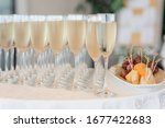 Champagne Glasses On A Party...
