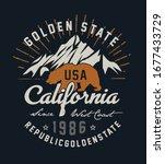 california republic vintage... | Shutterstock .eps vector #1677433729