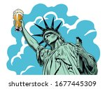 statue of liberty holding a...   Shutterstock .eps vector #1677445309