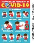 coronavirus symptoms and... | Shutterstock .eps vector #1677457309