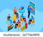 teamwork. presentation of...   Shutterstock .eps vector #1677464890