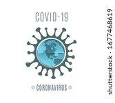 coronavirus covid 19 conceptual ... | Shutterstock .eps vector #1677468619