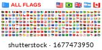 all world flags   vector tag... | Shutterstock .eps vector #1677473950