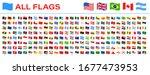 all world flags   vector waving ... | Shutterstock .eps vector #1677473953