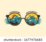 camping badge illustration... | Shutterstock .eps vector #1677476683