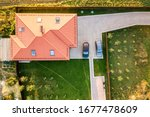 Top Down Aerial View Of A...