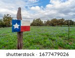 Lonestar Flag And Texas Blue...