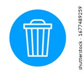 vector icon trash can. delete... | Shutterstock .eps vector #1677489259