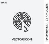 pizza vector icon illustration. ...