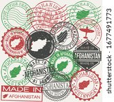 afghanistan set of stamps.... | Shutterstock .eps vector #1677491773