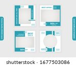 set of square social media post ... | Shutterstock .eps vector #1677503086