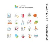 set of vector line icons of... | Shutterstock .eps vector #1677504946