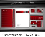 corporate identity kit or... | Shutterstock .eps vector #167751080