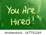 you're hired concept | Shutterstock . vector #167751269