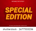 special edition text effect... | Shutterstock .eps vector #1677533236