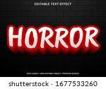 horror text effect template... | Shutterstock .eps vector #1677533260