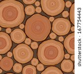 cut wood pattern seamless in... | Shutterstock .eps vector #167754443
