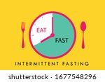 intermittent fasting concept ... | Shutterstock .eps vector #1677548296