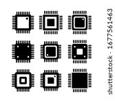 electronic chip vector icon... | Shutterstock .eps vector #1677561463