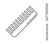 handleless hair comb icon....   Shutterstock .eps vector #1677565030