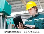 man working in a factory ... | Shutterstock . vector #167756618