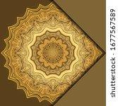 mandala background for book... | Shutterstock .eps vector #1677567589