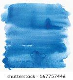 Cyan Watercolor Background