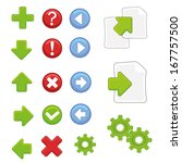 a lot of colored icons with...   Shutterstock .eps vector #167757500