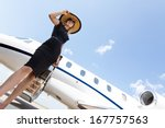 low angle view of woman in... | Shutterstock . vector #167757563