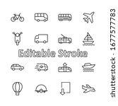set of public transport related ... | Shutterstock .eps vector #1677577783