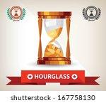hourglass symbol vector | Shutterstock .eps vector #167758130