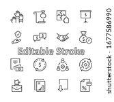 set of business cooperation... | Shutterstock .eps vector #1677586990