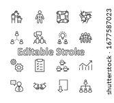 set of team work related vector ... | Shutterstock .eps vector #1677587023