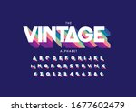 vector of stylized modern font... | Shutterstock .eps vector #1677602479