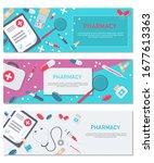 set medical flat vector...   Shutterstock .eps vector #1677613363