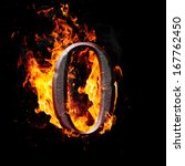 hot metal burning numbers on... | Shutterstock . vector #167762450