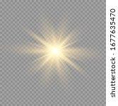 glow light effect. star burst... | Shutterstock .eps vector #1677635470