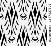 ikat seamless pattern design... | Shutterstock .eps vector #1677637903